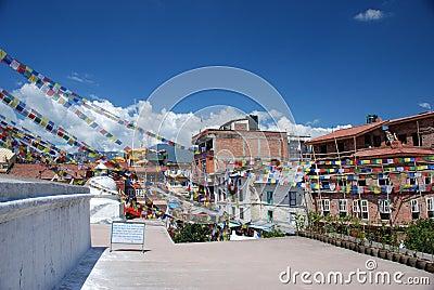 Stupa in Kathmandu, Nepal Editorial Stock Photo