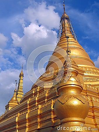 Stupa from the Paya Kuthodaw , Mandalay , Myanmar
