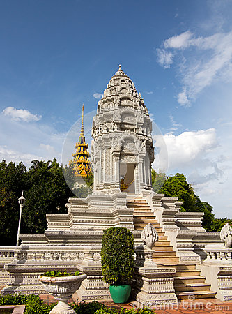 Stupa by Royal Palace Cambodia