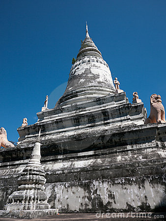 Stupa at Wat Phnom in Cambodia