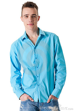 Sturdy guy with his blouse