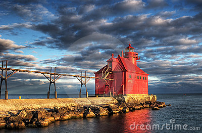 Sturgeon Bay Lighthouse Reflection
