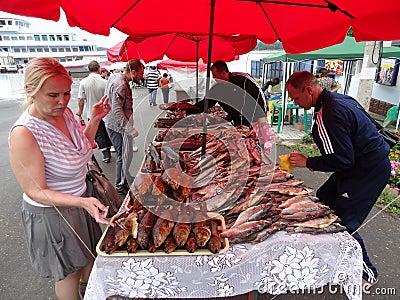 Sturgeon fish Editorial Photography