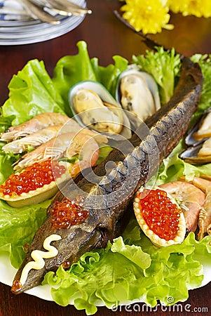 Sturgeon and seafood