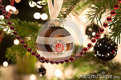 STUTTGART - JANUARY 6: FC St. Pauli Christmas ball Editorial Photo
