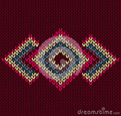 Style Abstract Symmetric Knitted Pattern