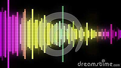 Style audio de pixel de spectre illustration libre de droits