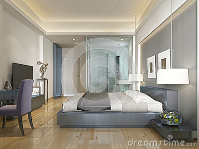 Style Contemporain Moderne De Chambre D'hôtel Avec Des éléments D ...
