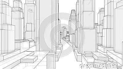 Style de mod?le de promenade de ville vid?o de l'illustration 3d illustration libre de droits