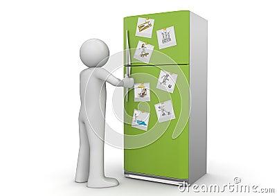 Style de vie - photos sur le réfrigérateur