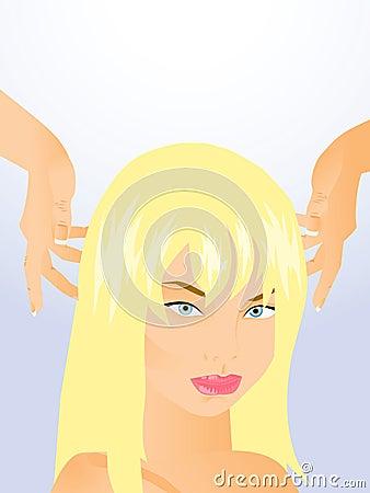 Style hair blonde