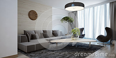 Style moderne de salon lumineux photo stock image 59223032 - Style de salon moderne ...