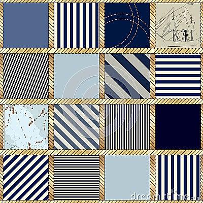 Style nautical pattern