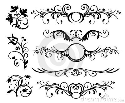 Style ornaments vector