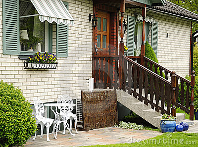 Styled house outdoor decoration