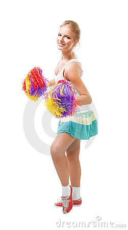 Styled professional woman cheer leader
