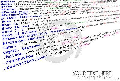 Stylesheet source code listing