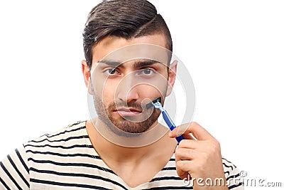 Styling beard