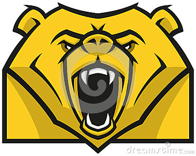 Stylised Bear head logo