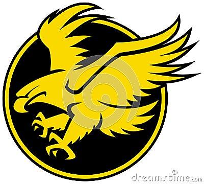 stock photos stylised bird of prey logo image 21305113