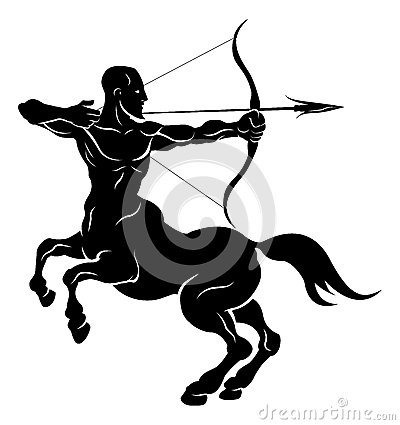Free Stylised Centaur Archer Illustration Royalty Free Stock Photos - 28247538