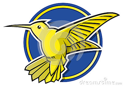 Stylised Hummingbird logo