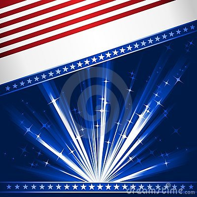 Free Stylised USA Flag Royalty Free Stock Photography - 9780147