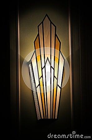 Free Stylish Art Deco Wall Light Royalty Free Stock Image - 51033926