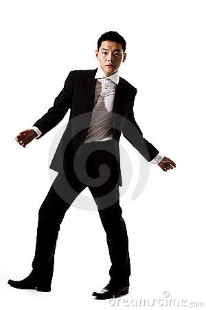 Stylish asian young man in formal attire