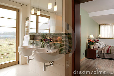 Stylish Bathroom and Bedroom