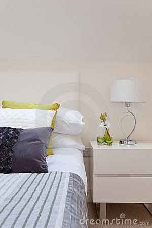 Stylish bedroom detail