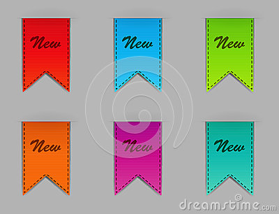 Stylish bookmarks. Vector