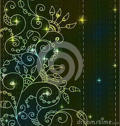 Stylish bright floral background