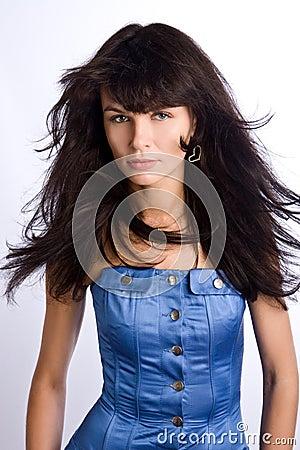 Stylish brunette