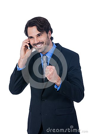 Free Stylish Businessman Talking On His Mobile Phone Stock Images - 46192094
