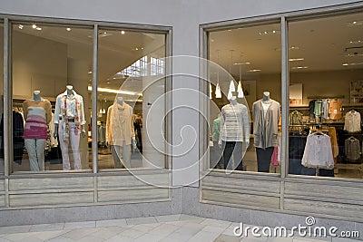 Stylish clothing fashion store
