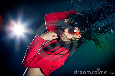 Stylish and cool looking dancer