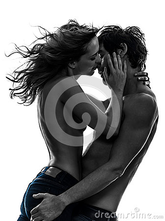 Free Stylish Couple Lovers Topless Lovers Silhouette Royalty Free Stock Photo - 31946815