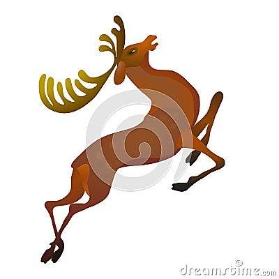 Stylish deer