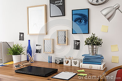 Stylish desk in office Stock Photo