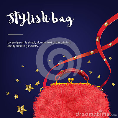 Free Stylish Fashion And Trendy Wool Woman S Bag With Stars. Stock Photo - 75912860