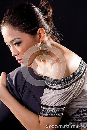 Stylish fashion asian young woman