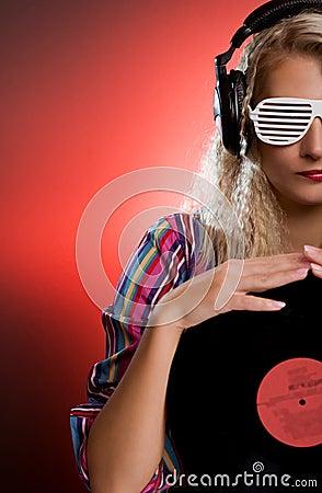 Stylish female DJ