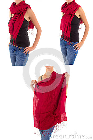 Stylish Feminine Scarf with Oriental Pattern