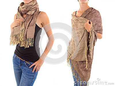 Stylish Feminine Scarf with Oriental Pattern