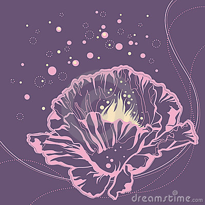 Stylish floral doodle