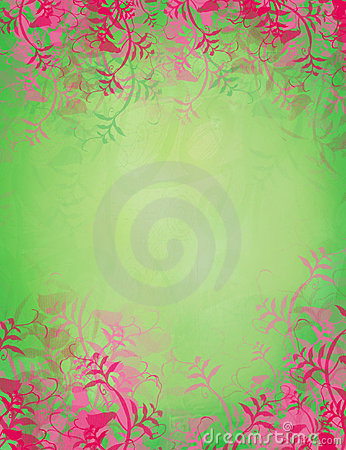 Stylish floral patterned background