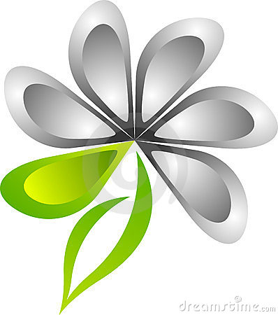 Stylish flower logo
