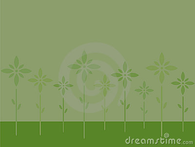 Stylish Green Flowers On Pale Green Background Royalty Free Stock Images - Image: 11759029