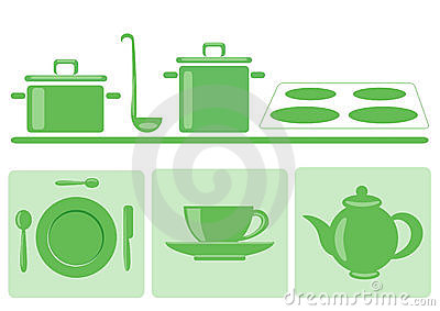 Stylish green tableware